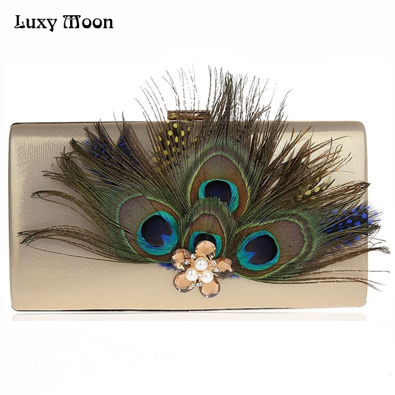 2017 Peacock feather Clutch Bag Luxury Pearl Evening Bags Fashion Wallet Diamond Party Purse Wedding Bridal Handbags ZD631 fashion pearl rose embroidery designer party purse ladies shoulder bag clutch evening wallet mini tote wedding handbags