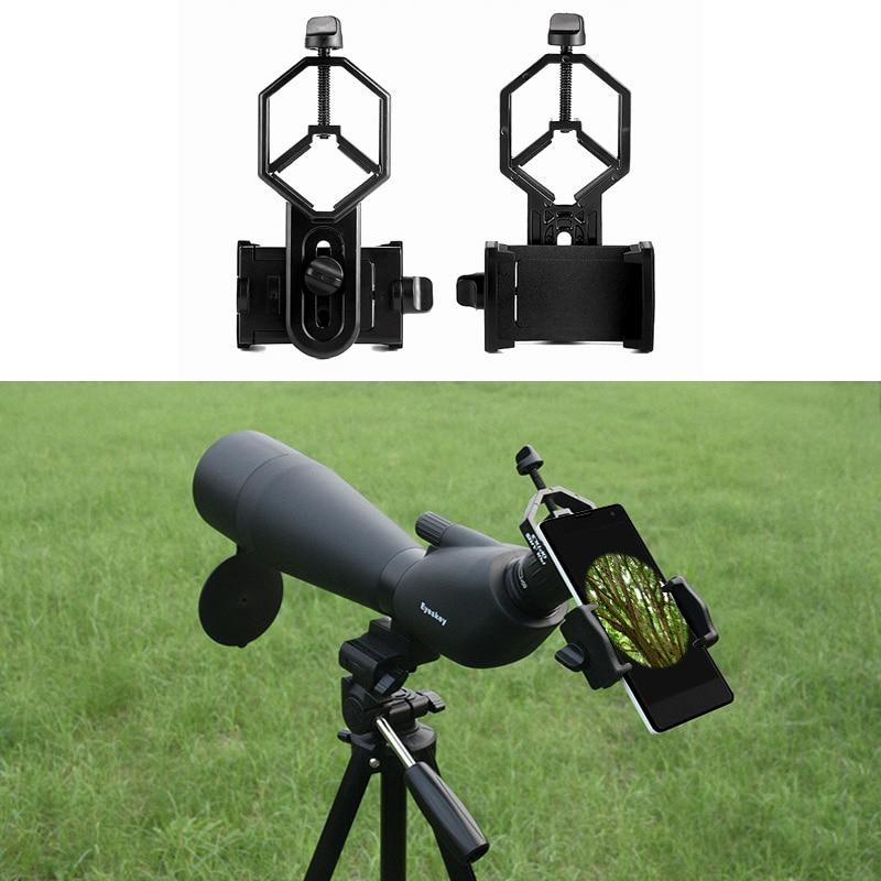 Ao ar livre Adaptador de Suporte Universal Adaptador de Telefone Montar Titular Para Binóculos Telescópio Monocular Spotting Scope Microscópio