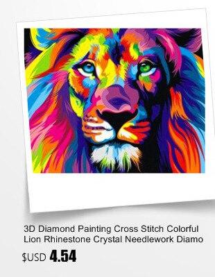 ᗗberlian Lukisan Cross Stitch Kartun Pemandangan Berlian Mosaik