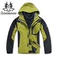 Homens de alta Qualidade Ao Ar Livre Windbreaker 3in1 Quente Casaco de Inverno Com Forro de Lã Jaqueta de Montanhismo À Prova D' Água X1288