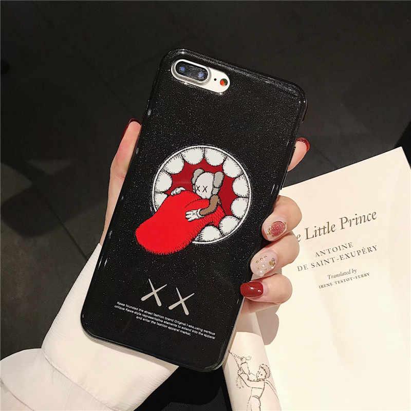 Yeni Karikatür iphone için kılıf 6 6 s 7 8 Artı Moda kişilik eğilim Marka güzel yumuşak iphone X10 XR XS max telefon Kapak Kılıfları