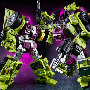 Image 3 - JINBAO Deformation New Devastator Toys Transformation GT Robot Trucks Car Oversize Excavator Crane Model Action Figure Toys