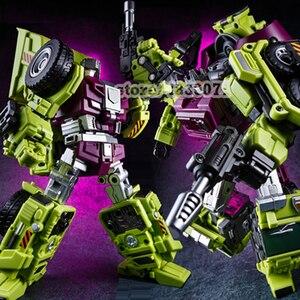 Image 3 - Jinbao Vervorming Nieuwe Devastator Speelgoed Transformatie Gt Robot Vrachtwagens Auto Oversized Graafmachine Kraan Model Action Figure Speelgoed