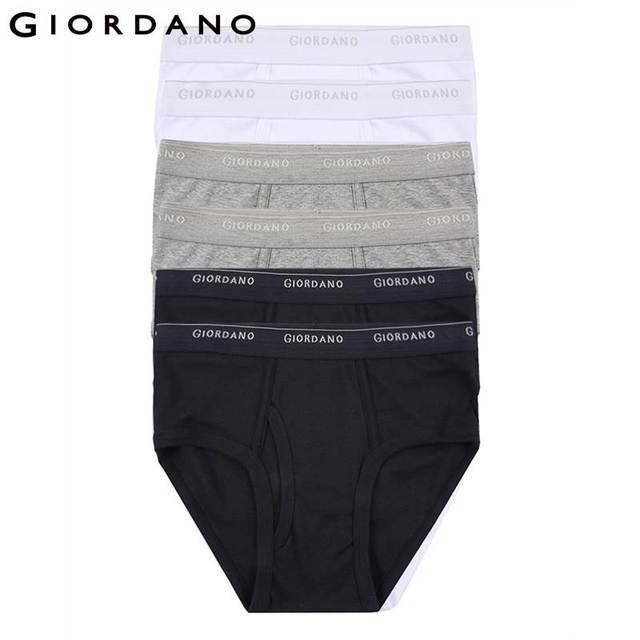 Giordano Men Underwear Brand Mens Underwear Briefs Logo Cotton Briefs for  Men Calcinha Calzoncillos Hombre Male