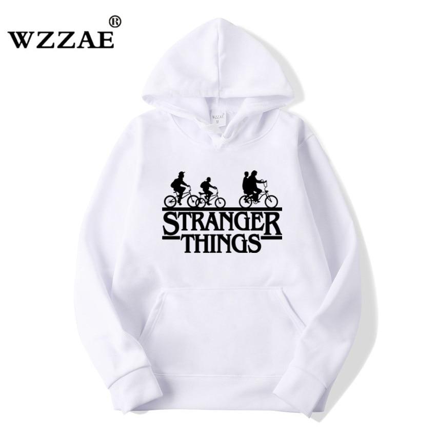 Trendy Faces Stranger Things Hooded Hoodies and Sweatshirts 54