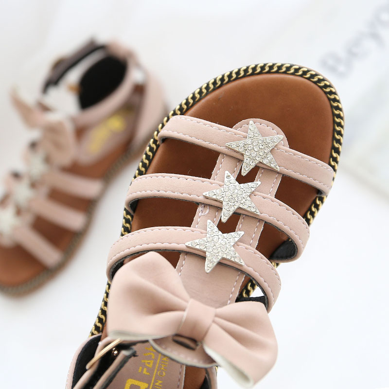 2018 Letnie dziewczyny sandały Pu Bowtie Gladiator Sandały Moda - Obuwie dziecięce - Zdjęcie 5