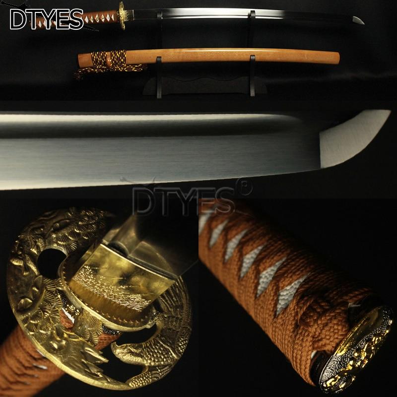 32 mm Custom Stripes Brass Habaki Saya Sleeve Japanese Katana Wakizashi Tanto