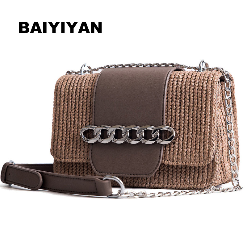2018 New Rattan Bag Small Fresh Grass Bag Lady Mini Beach Vacation Leisure Shoulder Woven Bags for Women Bolsa Feminina