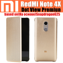 original xiaomi redmi note 4x case based on snapdragon 625 dot view magnetic smart flip cover for redmi note 4 global version