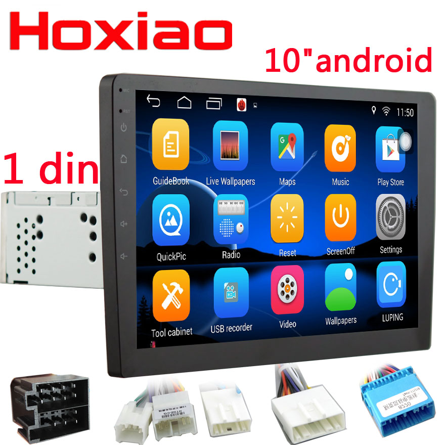 10 One din Car Multimedia Player Android os Quad Core 2 din radio GPS Stereo Audio