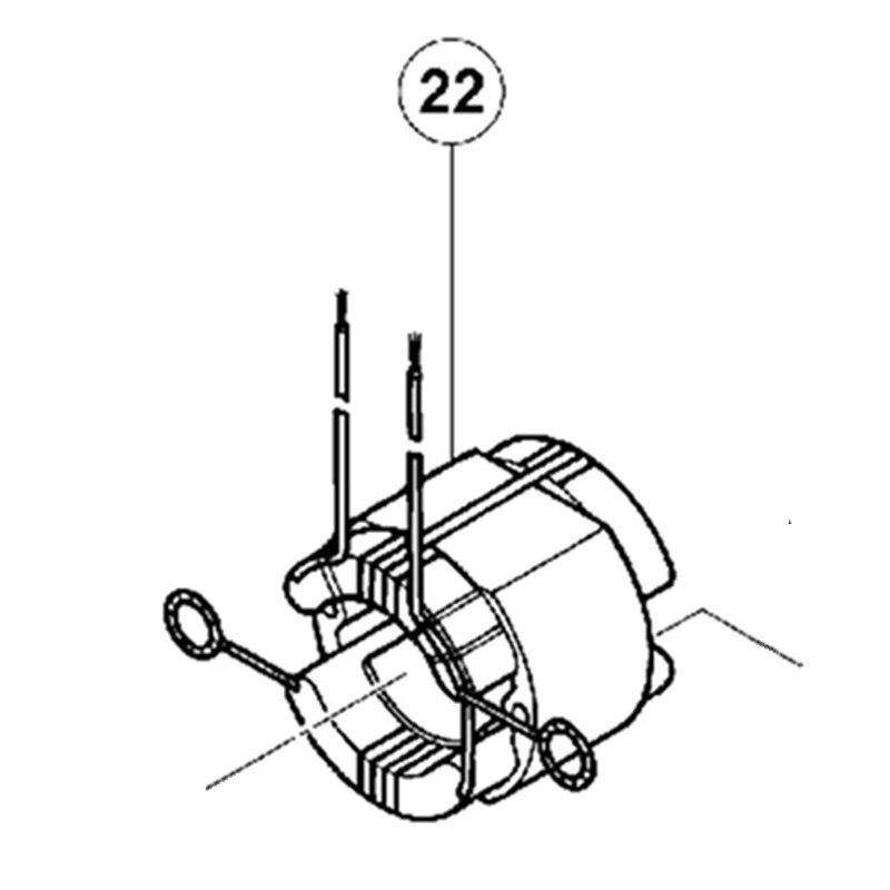 Champ de Stator AC220V-230V pour Hitachi C9U 340226 HChamp de Stator AC220V-230V pour Hitachi C9U 340226 H