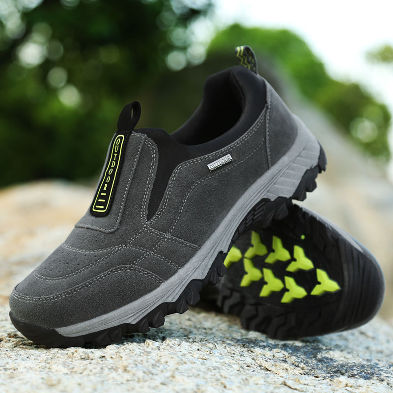 Big Size Men s Hiking Shoes Breathable Male Sneakers Non Slip Outdoor Shoes Slip on Walking