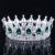 2016 Cristal Verde Banhado A Ouro Chic Régio Real Sparkly Pedrinhas Quinceanera Pageant Tiaras E Coroas Nupciais Tiaras