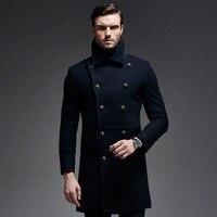 New Man Long trench coat wool coat Winter Men's wool Coat mens overcoat men's coats male clothing,M 3XL