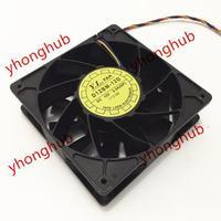 Emacro For Yate Loon D12BM 12D DC 12V 2.3A 120x120x38mm 4 Wire Server Cooler Fan