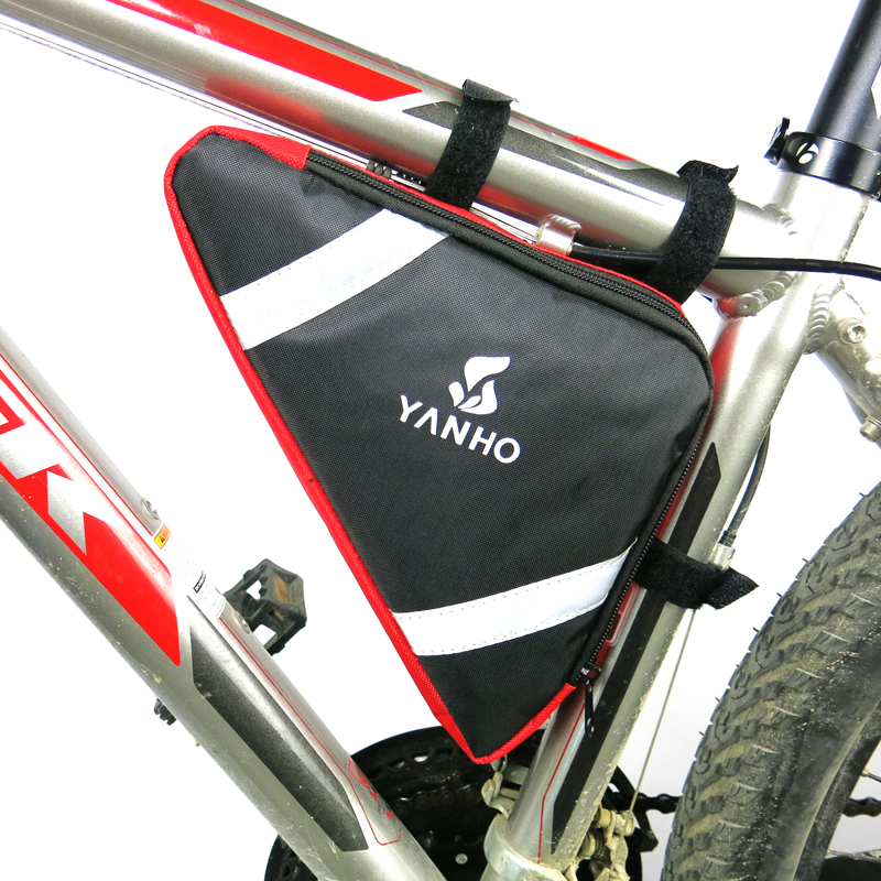 <font><b>YANHO</b></font> 4 Colors Waterproof 2L Outdoor Triangle Cycling Bicycle Front Tube Frame <font><b>Bag</b></font> Mountain <font><b>Bike</b></font> Pouch Holder Saddle <font><b>Bag</b></font> image