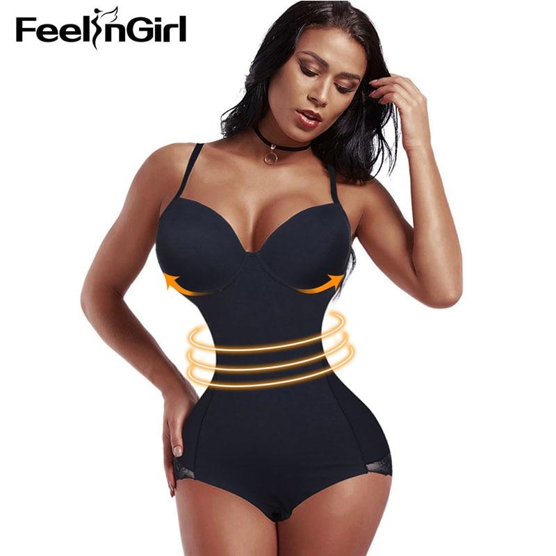 5adf4adea2e FeelinGirl Lace Slimming Body Shaper Push Up Recovery Shaperwear Corset  Girdle Tummy Control Bodysuit underwear Lingerie Fajas