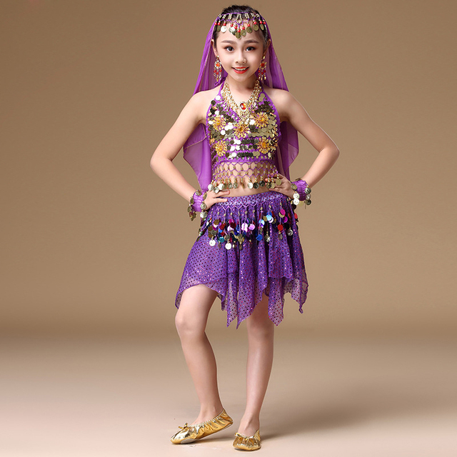 efebdc922 4 8 Years Children Dance Wear India Sari Clothes Coins Waistband ...