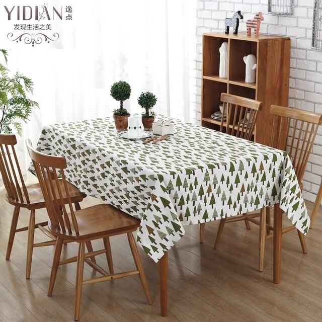 Moderne Tischdecke einfache stil tisch tuch gedruckt grün zeder tischdecke neue