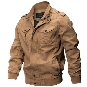 Image 2 - KOSMO MASA Bomber Jacket Men Autumn Winter 2018 Military Mens Jackets And Coats Black Windbreaker Jacket for Men Outwear MJ0074