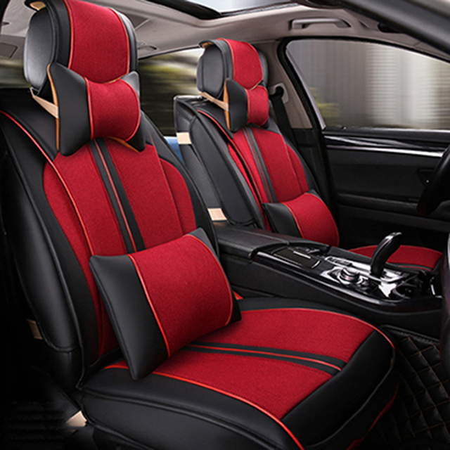 Universal Leather car seat covers For HUMMER H2 H3 car-styling auto accessories car Stickers carpet 3D Black/Red/White/Beige