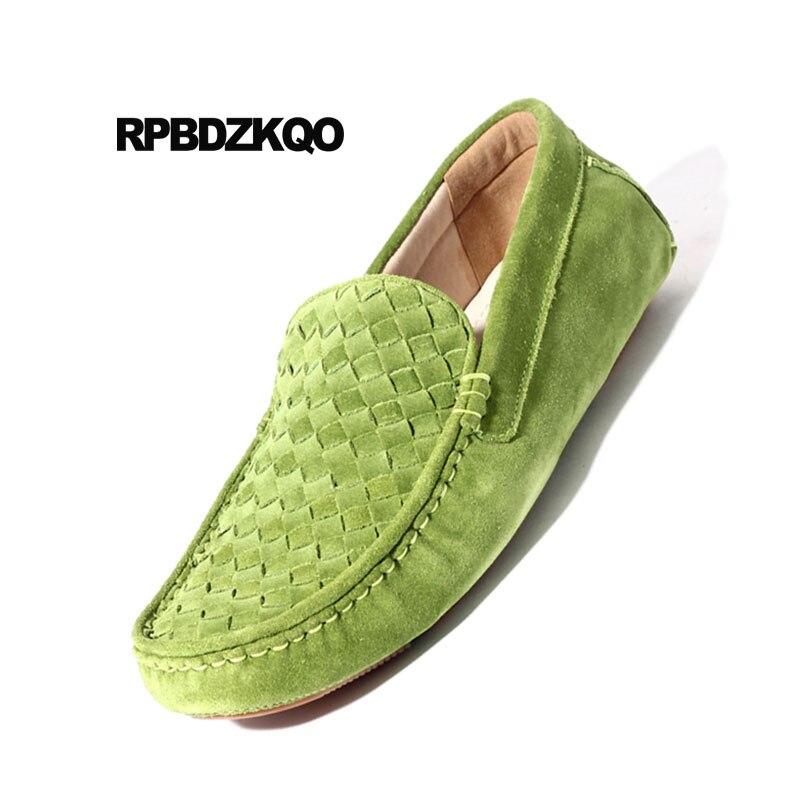 Trenzado Deslizamiento Apricot Transpirable Blue En Conducción Estilo Suede rojo coffee Yellow verde Verde Cielo Británico Zapatos Hombres Tejido gris Real dark Cuero Genuino Nubuck Mocasines azul rqrw0Ha6