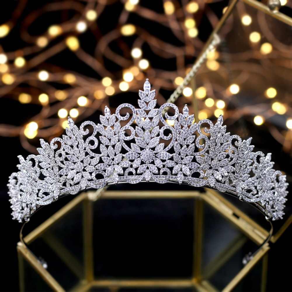 Incroyable reine tiare Vintage casque de mariage couronnes de mariée bijoux de cheveux Tocado Novia accessoires de cheveux de mariage