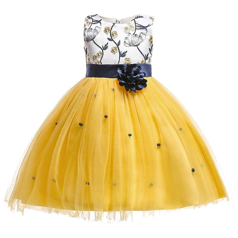 Summer children clothing Flower girl princess party show communion dress girl kid dress up wedding birthday tutu clothes