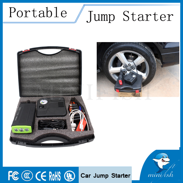 Démarreur de saut multifonction 600A voiture de secours Auto batterie externe chargeur de batterie externe avec pompe à Air électrique