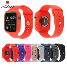 AOOW Sports Silicone Band For Apple Watch 4/3/2/1 Mens and Womens Replacement Wrist Strap i watch Series 44/42/40/38MM