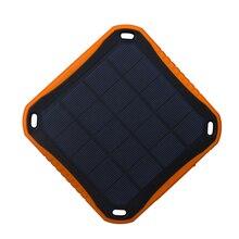 1x Wama Solar Panel Charger dual-USB Power Bank 5400mAh Waterproof Outdoors External Portable LED Light