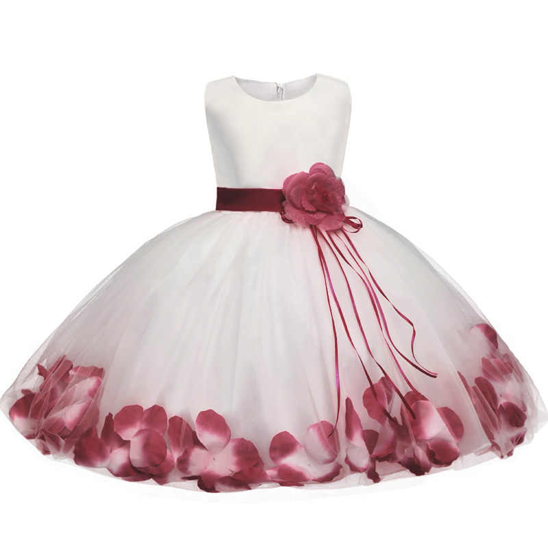 35bf3aed6a Princess Elegant Dress For Girl Wedding Children Fancy Costume Prom Ball Gown  Teenager Dresses for Girls