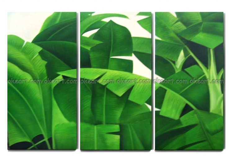 100% Hand Painted Free Shipping Tropical Plants Shrubs