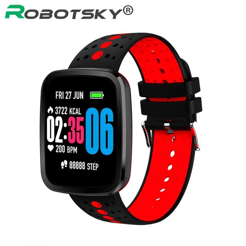 V6 Smart Armband Herz Rate Blutdruck wasserdichte Smartwatch Outdoor Modus Fitness Tracker Erinnerung Tragbare Gerät