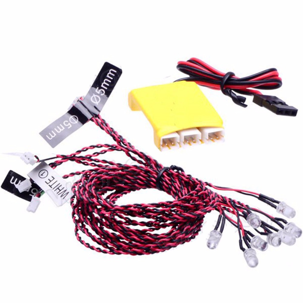 F04621 8 LED Multi-color Flashing Light System For RC Car Helicopters Multicopter Quadcopter
