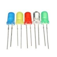 1000 pcs LEDs Light-emitting diodes LEDs Model Blue Green Yellow Red White 5mm Super Bright