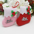 2PCS\lot Christmas socks Christmas decorations sock (not real,can't wear) Christmas tree ornaments Shopping mall shop socks bags