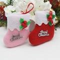 2PCS\lot Christmas socks Christmas decorations sock (not real,can't wear) Christmas tree ornaments Shopping mall shop socks bags