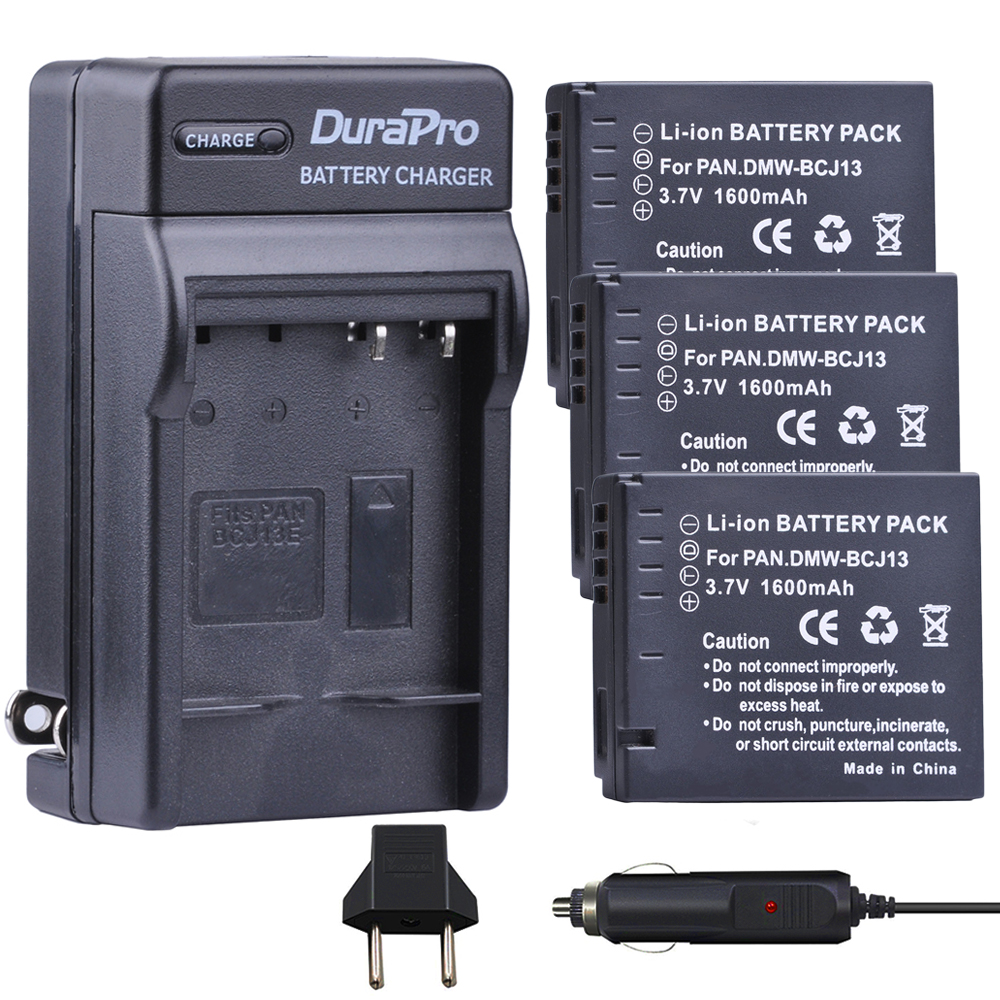 3pc 1600mAH DMW-BCJ13 DMW BCJ13 Rechargeable Li-ion Battery + Car Charger + EU Plug For Panasonic DMC LX5 LX5 LX5GK LX5K LX5W 3pc 1600mAH DMW-BCJ13 DMW BCJ13 Rechargeable Li-ion Battery + Car Charger + EU Plug For Panasonic DMC LX5 LX5 LX5GK LX5K LX5W