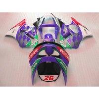 Custom free ABS motorcycle fairing kits for Kawasaki 1998 1999 ZX6R purple body repair Fairings parts Ninja 636 ZX 6R 98 99