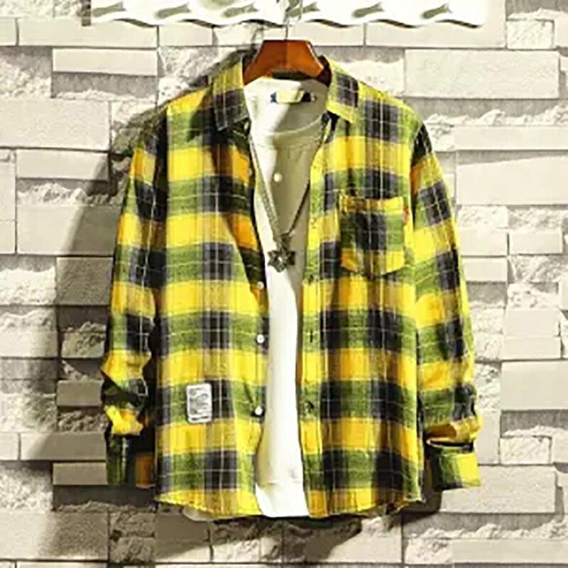 0791d883e2 Cheap Los hombres casuales camisa a cuadros camisa de primavera y verano  Camisa de franela hombres