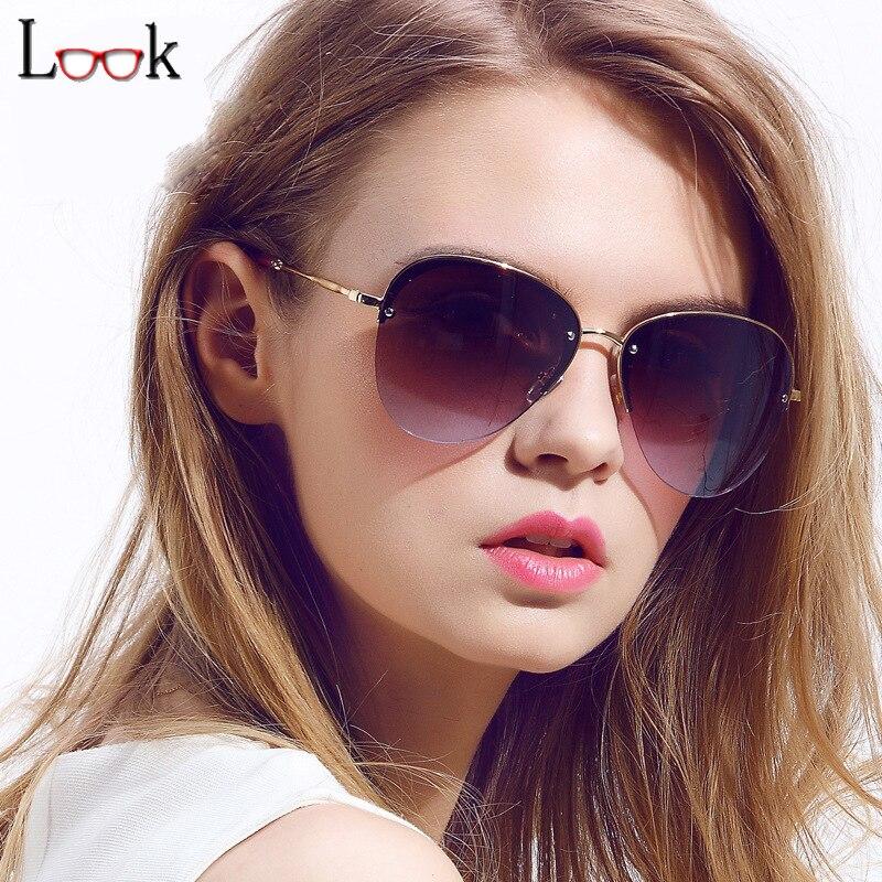 Moda 2018 Nova Cor Oversized Piloto Óculos De Sol Das Mulheres Marca  Designer Vintage Óculos de Sol Occhiali da Sole Oculos Zonnebril 5858efb279