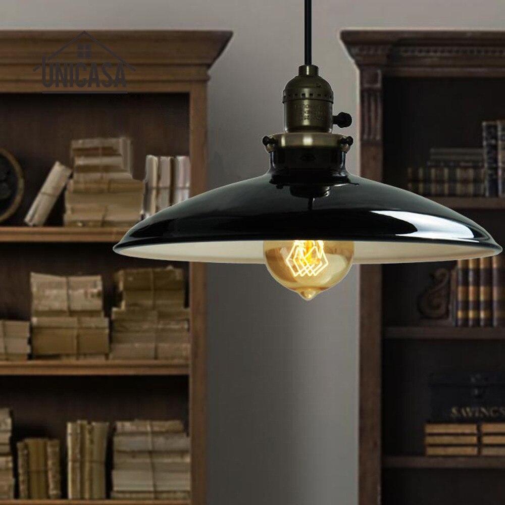 Antiken Schmiedeeisernen Leuchten Schwarz Metall Industrielle LED Pendelleuchten Mini Küche Wohnzimmer Moderne Deckenleuchte