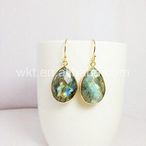 Image 5 - תכשיטים לנשים עגילי ברדורייט הטבעי ברדוריט WT E236 קסם פיאות teardrop אבן טבעי צבעים מתנה יפה