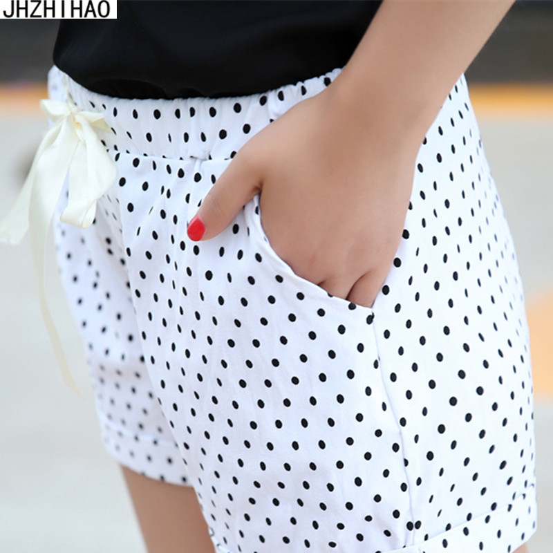 Women Shorts Summer Sexy Stripe Small Dots Casual Style Ladies Shorts Hot Sale Plus Size Female Shorts Femininos