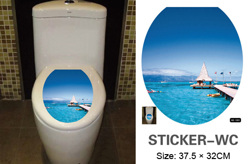 21 designs wc  pan cover stickers 32* 38cm