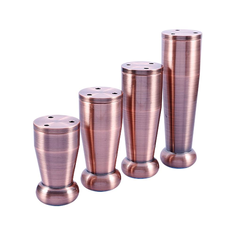 Aluminum alloy 80 100 120 150mm furniture legs bed sofa kitchen cabinet feet 6mm adjustable copper 4pcs