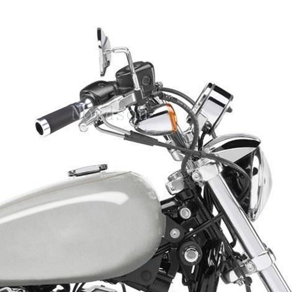 small resolution of 7 8 motorcycles handlebar grip hand grips throttle wires accessories set for suzuki honda kawasaki yamaha buell ducati chrome in grips from automobiles