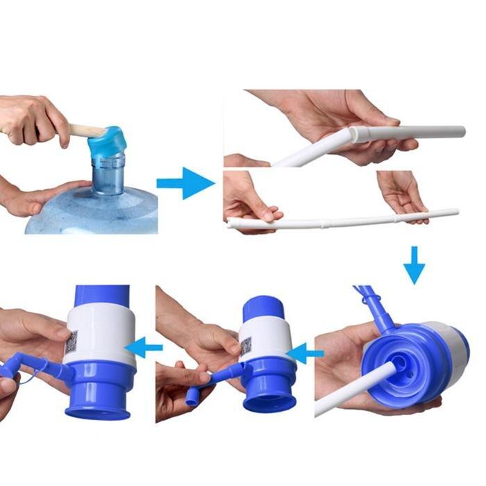5 Gallon dzeramais ūdens pudelēs Ideāls rokas spiediena manuālais - Virtuve, ēdināšana un bārs - Foto 4