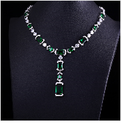 HTB10dFugeGSBuNjSspbq6AiipXaY JaneKelly Gold-Color Luxury Sparking Brilliant Cubic Zircon Drop Earring Necklace Jewelry Sst Wedding Bridal jewelry sets